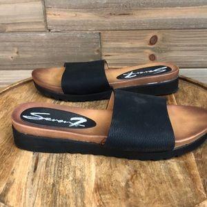 ❤️ Seven7 Pearl Slide in Black Size 8 ❤️